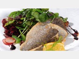 Trout Fillets with Leaves Salad