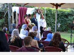 Wedding ceremony on our summer terrace