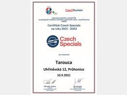 Certifikát CzechSpecials