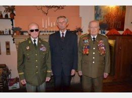 Arm. gen. Ing.Tomáš Sedláček, emeritní velvyslanec SR Ladislav Balek, plk. Minárik