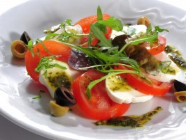 """Capresse"" - Mozzarella with Tomatoes, Basil and Olive Oil"