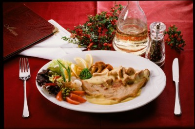 Chicken Steak with Egg Mushroom and Cream Sauce