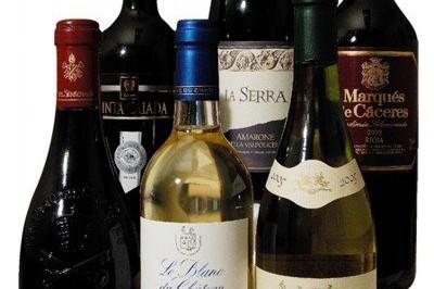 Široký výběr zahraničních vín