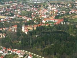 Průhonice - letecký snímek